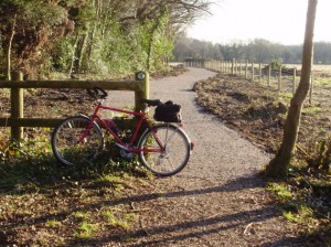 New cycle route from Havant Thicket Car Park to Durrants Rd