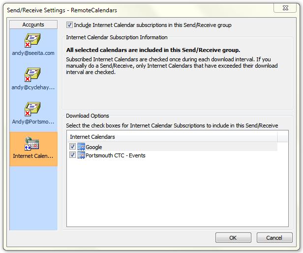 OutlookInternetCalendar1